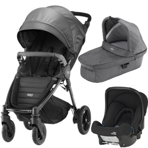 Britax B-MOTION 4 PLUS v setu s autosedačkou 2019/2020 Black Denim