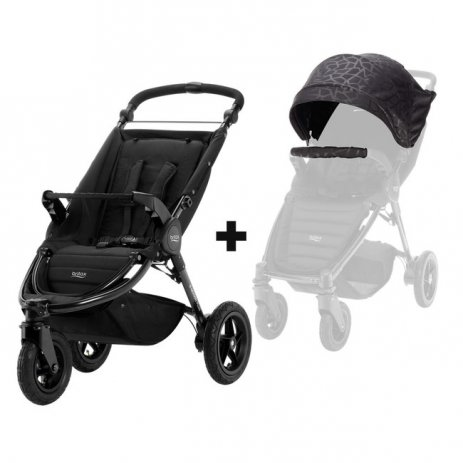 Britax B-Motion 3 PLUS + korba 2019 Geometric Black