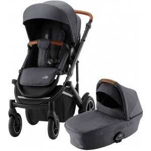 Britax Set kočárek Smile III + hluboká korba 2021 Midnight Grey